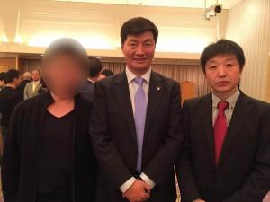 ロブサン・センゲ首相と会見2016109-5